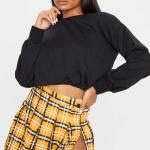 High Waist Zipped Pleated Skirt