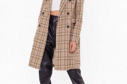 Mid-Length Woolen Coat